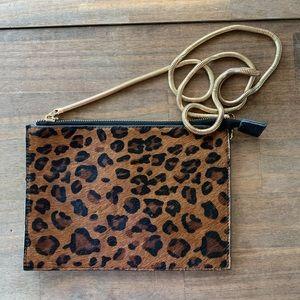 Handbags - Leopard Print Faux Fur Crossbody